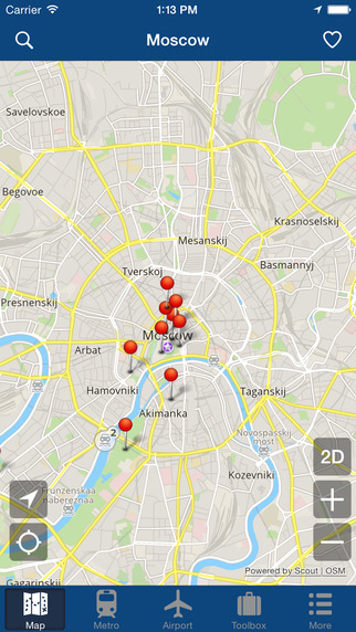 莫斯科离线地图 – 城市 地铁 机场 [iOS]