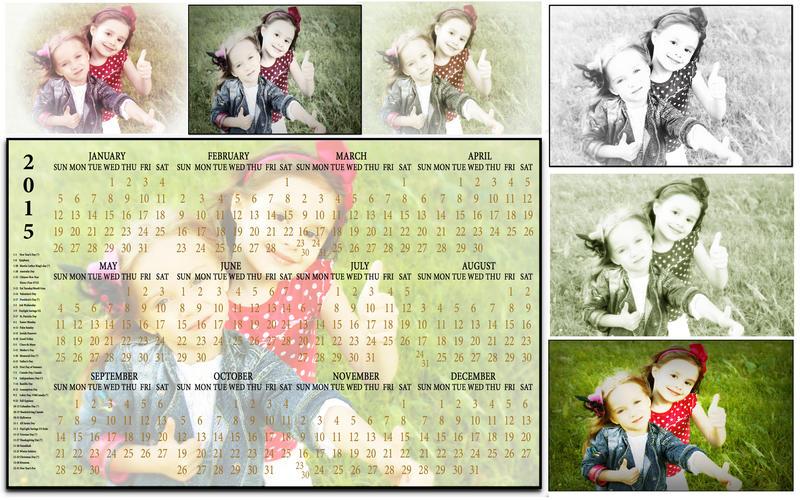Фотошоп как сделать детские календари