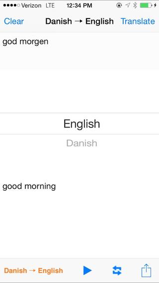 English Danish Translator