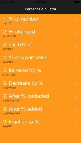 Percent Calculater Pro : number percentage math value change calculator