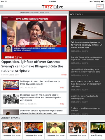 IBNLive for iPad