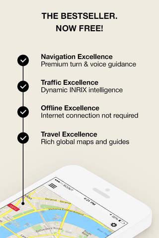 Screenshot 1 GPS Navigation,  Maps & Traffic - Scout
