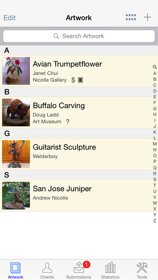 Artwork Tracker Lite - a submission tracking tool for artists and collectors