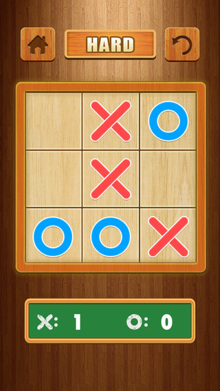 A TicTacToe -Naughts and Crosses Make Tiles in Line