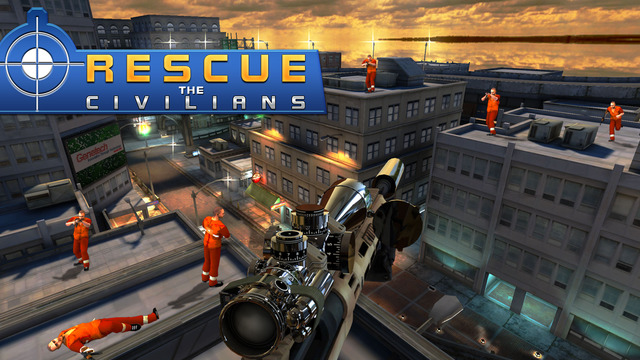 Police Rescue Sniper 3D - Real Crime City Sniper Assassin Game