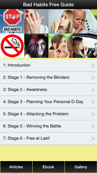 Bad Habits Free Guide - How to Free Yourself From Bad Habits Forever