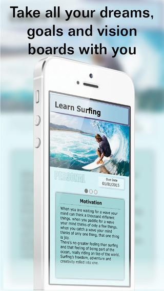 DreamCloud Lite – Goal Setting Vision Board Task List