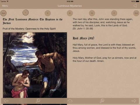 Scriptural Rosary iPad Screenshot 5