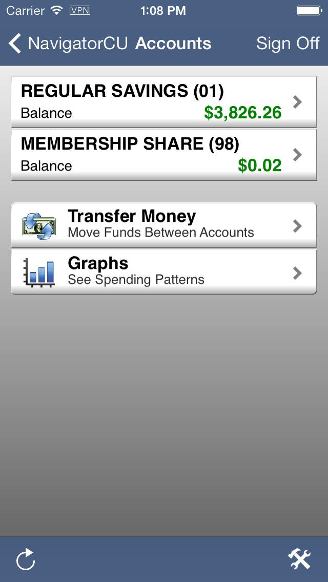 Navigator Credit Union Mobile Banking screenshot 2