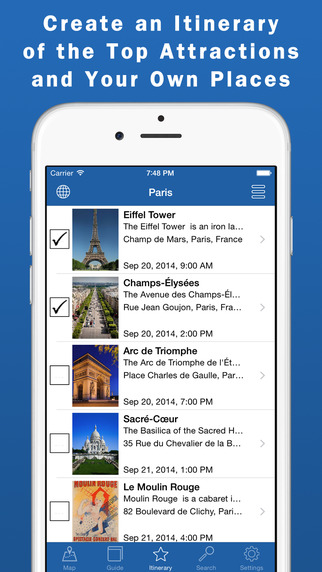 City Guides Offline Maps - Create a Travel Itinerary Plan a Trip