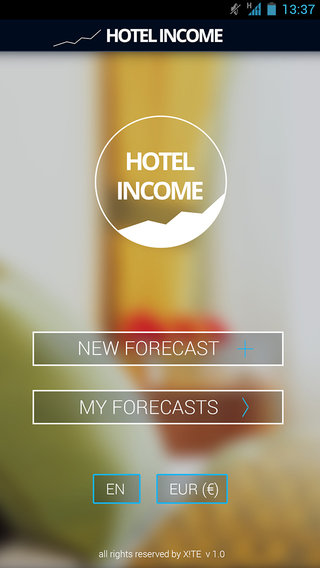 Hotel Income Sales Forecast