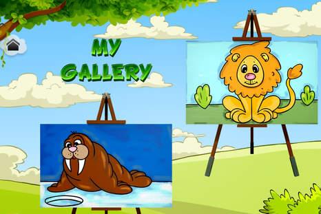 """""""儿童绘画动物""""是一款对你的孩子非常有益的游"""