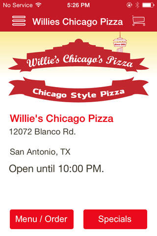 Willie's Chicago Pizza screenshot 1