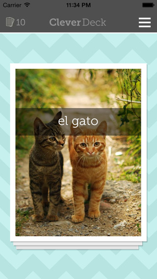 CleverDeck Spanish Flashcards - Learn Spanish Vocabulary