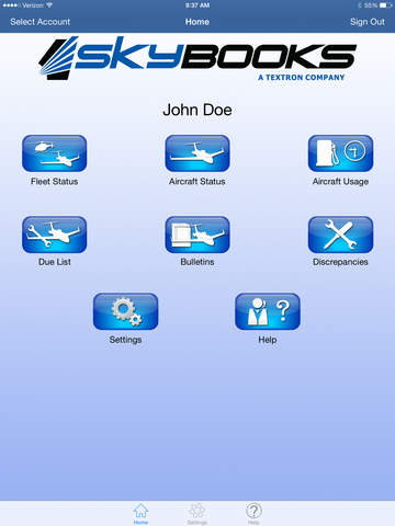 SkyBOOKS App
