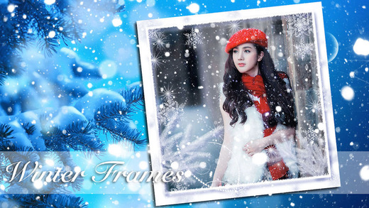 Winter Photo Frame Collage