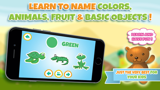 Learn colors in kindergarten or preschool - learning games for kids and toddlers