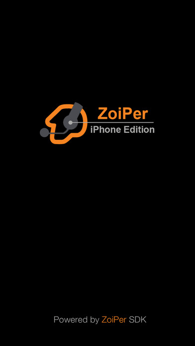 Screenshots of Zoiper SIP softphone for iPhone