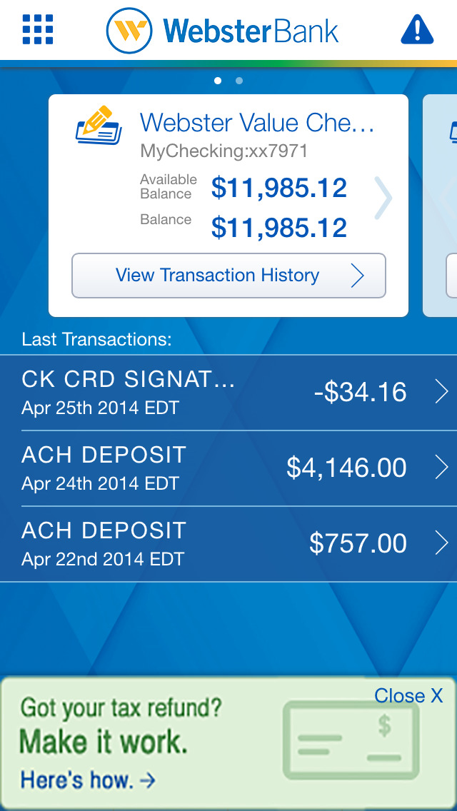 Webster Bank Mobile screenshot 3