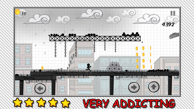 Line Rooftop Run : Stickman Escape Runner Free Edition