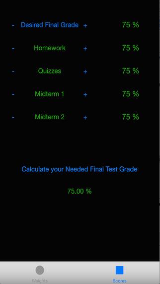 Needed Grade Calculator
