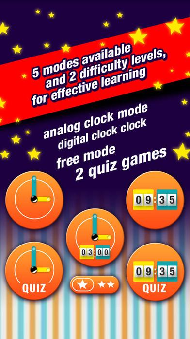 Learning to tell time is fun HD iPhone Screenshot 2