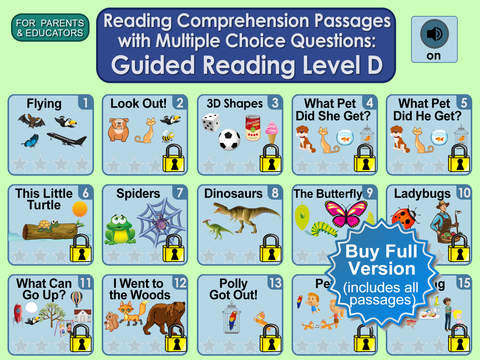 Reading Comprehension Passages with Multiple Choice Questions ~ Guided Reading Level D Free