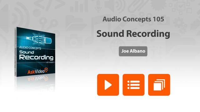 Audio Concepts 105 - Sound Recording