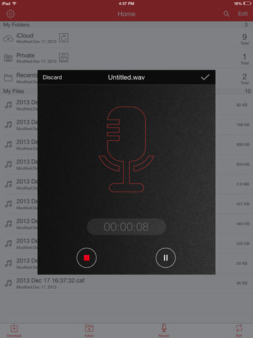 Recorder Pro: Professional Voice Recording On-The-Go Screenshots