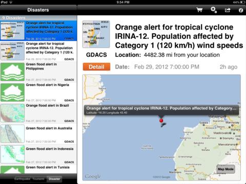 iEarthquakes screenshot