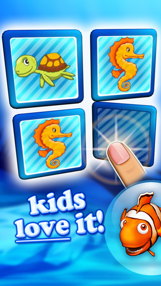 Memo pairs puzzle ocean animals for toddlers deluxe