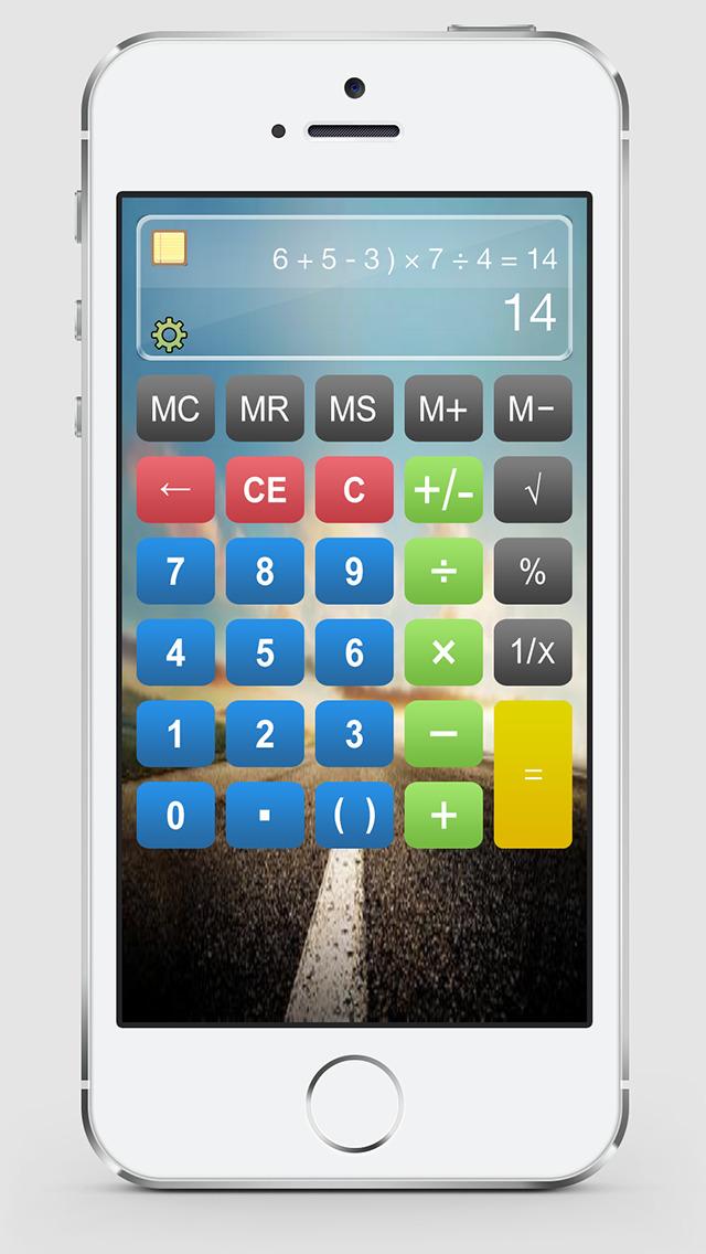 Калькулятор HD % бесплатно - Основные Calculater App Pro с Formula Показать & Notable бумажные ленты для Ipad , Iphone и Ipod Скриншоты3