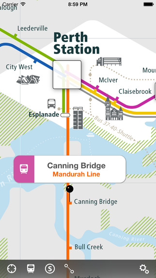 Perth Rail Map