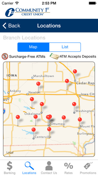 Community 1st Credit Union Mobile Banking IA