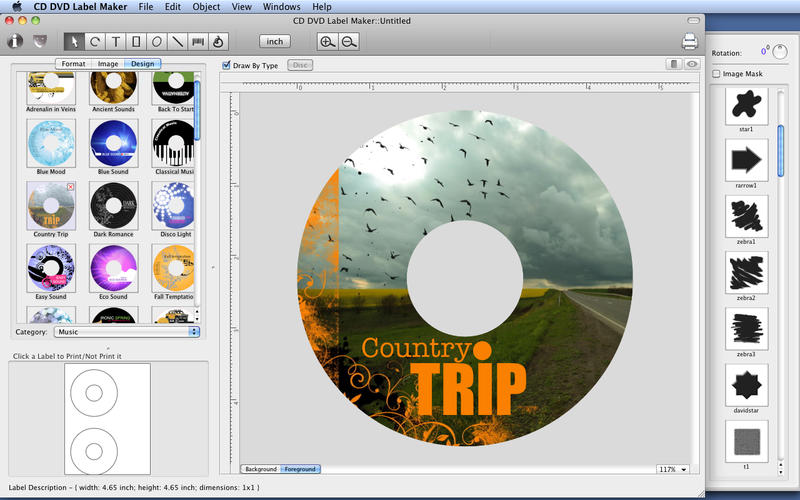CD DVD Label Maker IOS Graphics Design Apps AppDropp - Label maker online template