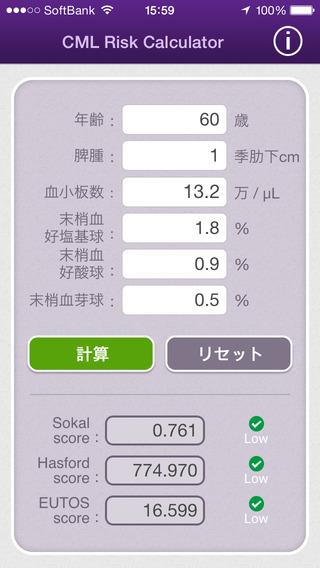 CML Risk Calculator