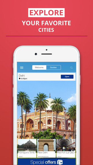 Delhi - your travel guide with offline maps from tripwolf guide for sights restaurants and hotels