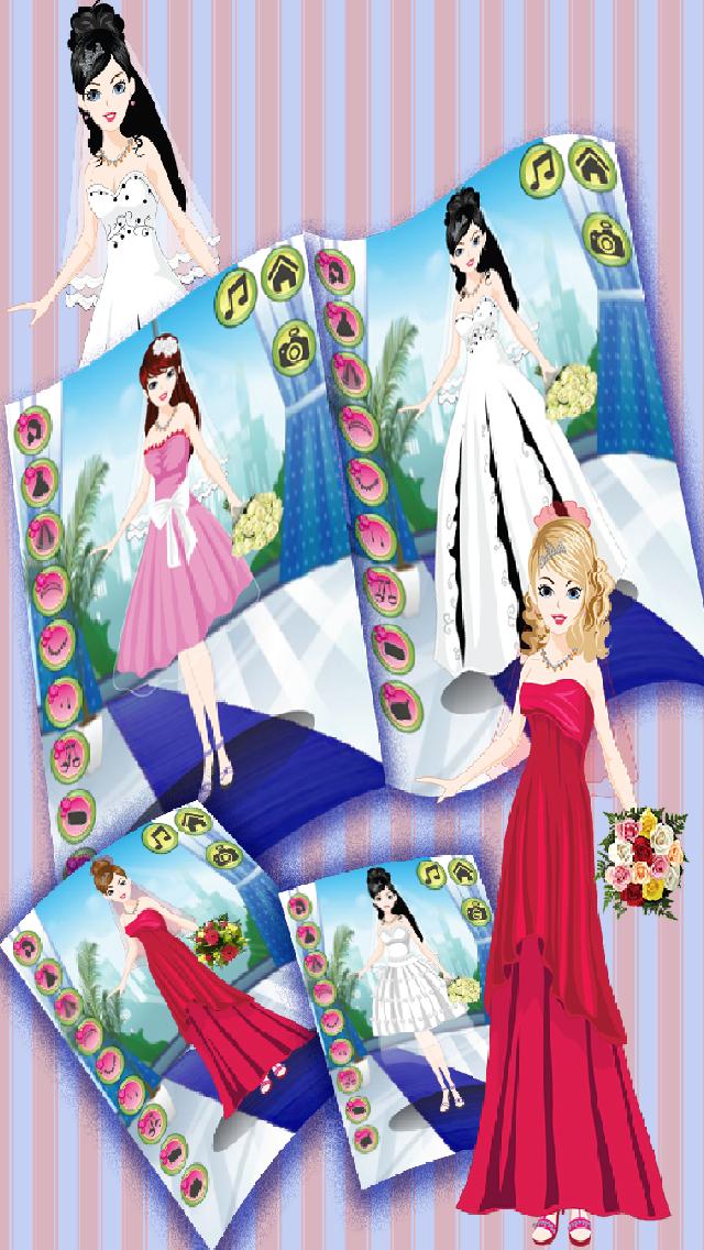 App shopper merry me wedding free dress up games for Design your own wedding dress app