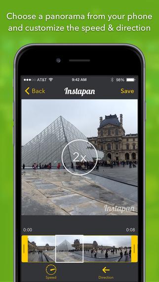 Instapan - Create panorama videos for Instagram Screenshot