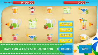 A Puzzle Wheel of Beach Cocktails Free - Slots Machine Simulator