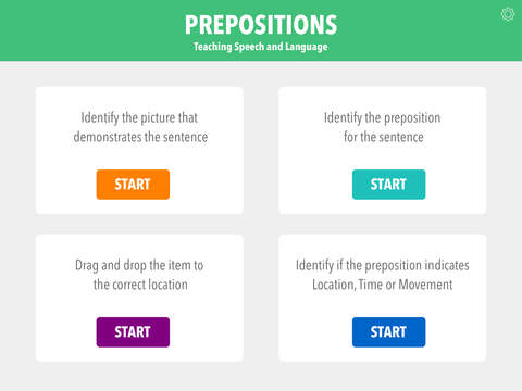 Screenshot #1 for Prepositions by Teach Speech Apps - for speech therapy