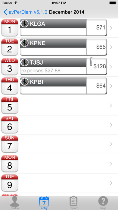 avPerDiem iPhone Screenshot 2