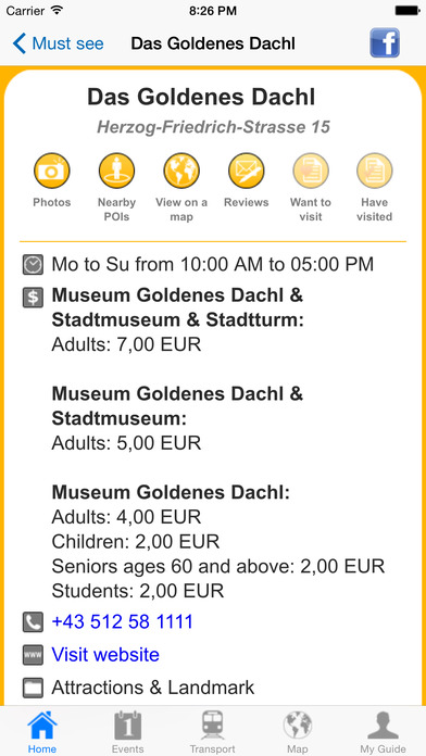 Innsbruck Travel Guide Offline iPhone Screenshot 5
