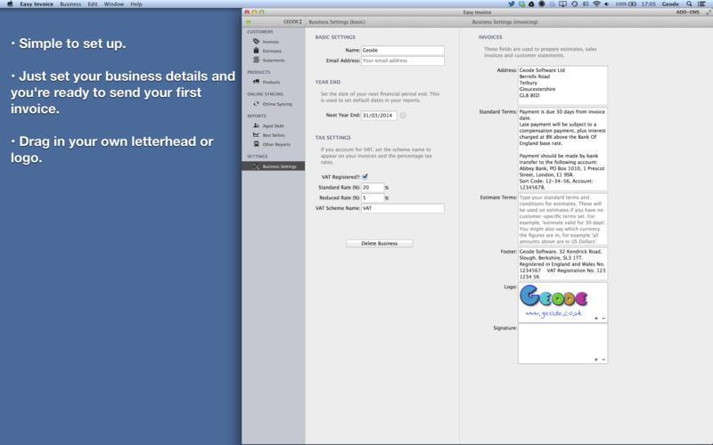 Easy Invoice - PDF invoice generator for Mac