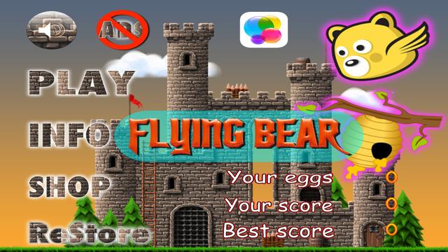 Flying Bear - Honey Battle Game