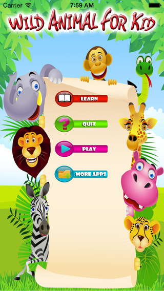 Wild Animal For Kid - Educate Your Child To Learn English In A Different Way