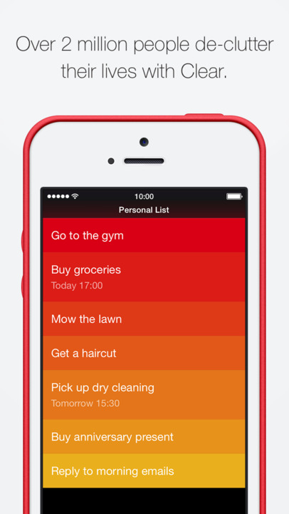Clear – Tasks, Reminders & To-Do Lists - iPhone Mobile Analytics and App Store Data