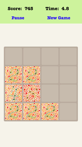 Color Blind 4X4 - Merging Number Block