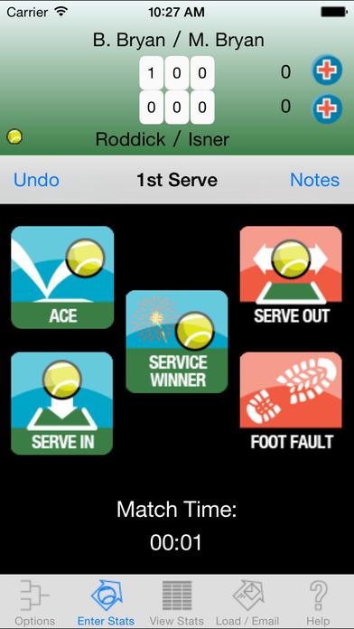 My Tennis Stats Lite iPhone Screenshot 5
