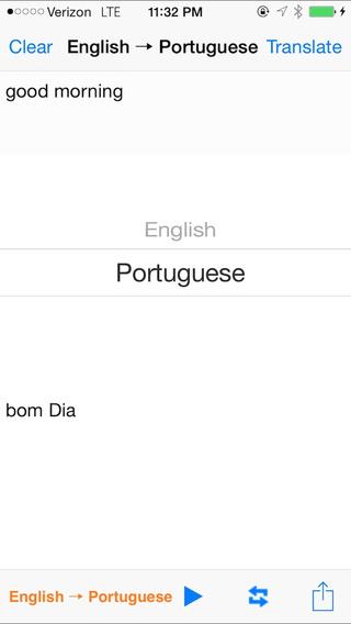 English Portuguese Translator with Voice